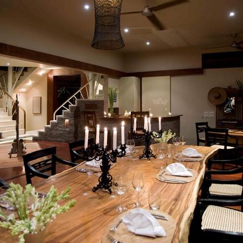 Villa Melissa Bali - Dining Room at Night - Pantai Lima, Canggu, Bali