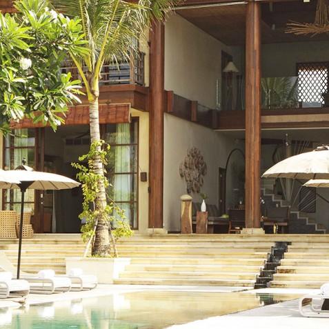 Villa Melissa Bali - Living Area from Pool - Pantai Lima, Canggu, Bali
