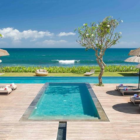 Villa Melissa Bali - Pool Deck and Ocean - Pantai Lima, Canggu, Bali