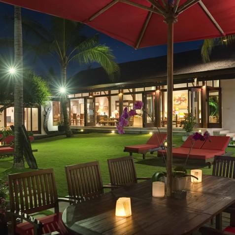 Villa Paloma Bali - Villa at Night - Canggu, Bali