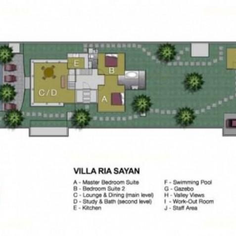 Villa Ria Sayan Bali - Floor Plan - Ubud, Bali, Indonesia