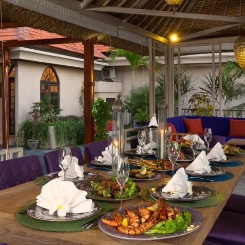 Villa Sayang d'Amour - BBQ Dining Area - Seminyak, Bali