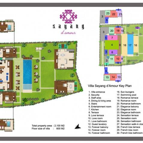 Villa Sayang d'Amour - Floor Plan - Seminyak, Bali