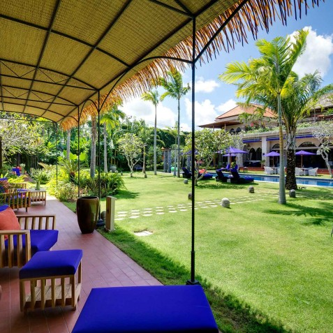 Villa Sayang d'Amour - View across Gardens from Guest Wing - Seminyak, Bali