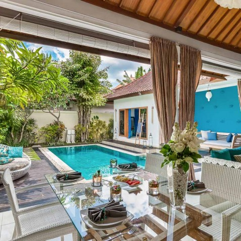 Villa Sea - 4S Villas - Open Plan Living Areas - Seminyak, Bali