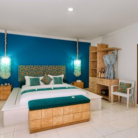 Villa Sea - 4S Villas - Master Bedroom Interior - Seminyak, Bali