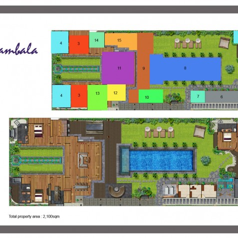 Villa Shambala - Floor Plan - Seminyak, Bali