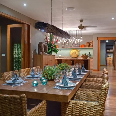 Villa Shambala - Indoor Dining Area - Seminyak, Bali