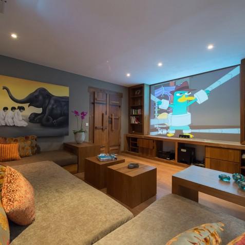 Villa Shambala - Media Room - Seminyak, Bali