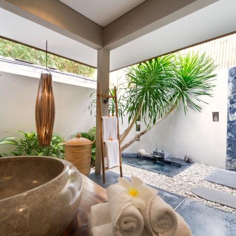 Villa Shambala - Open Air Bathroom - Seminyak, Bali
