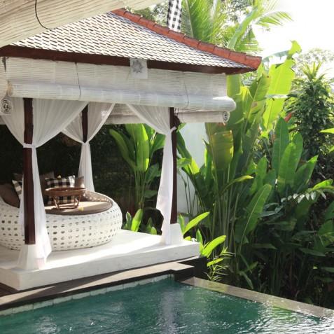 Villa Shamballa Moon, Ubud, Bali - Bale by Pool