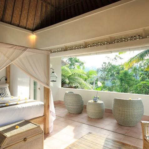 Villa Shamballa Moon, Ubud, Bali - Bedroom Terrace
