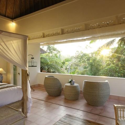 Villa Shamballa Moon, Ubud, Bali - Sunset Views from Bedroom