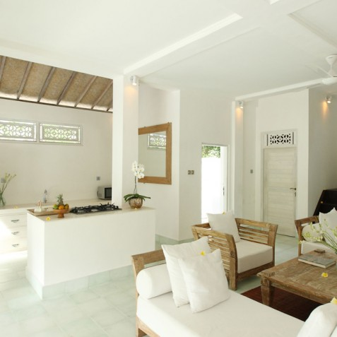 Villa Shamballa Moon, Ubud, Bali - Kitchen and Living Area