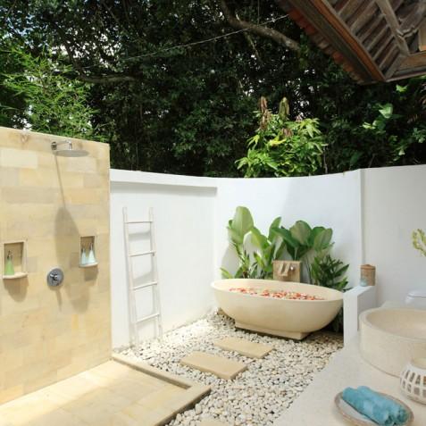 Villa Shamballa Moon, Ubud, Bali - Open Air Bathroom