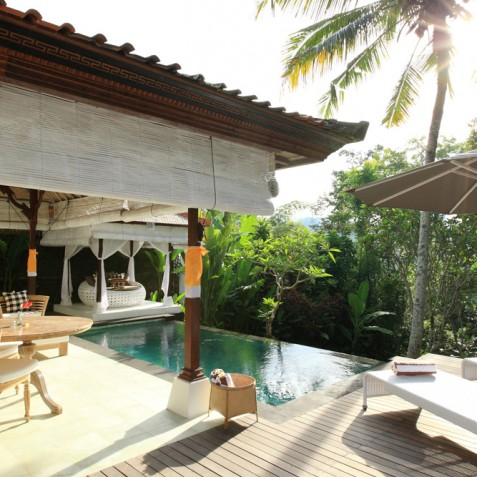 Villa Shamballa Moon, Ubud, Bali - Pool Bale and Sun Deck