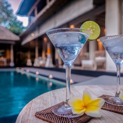 Villa Shamballa Residence, Ubud, Bali - Cocktail Hour