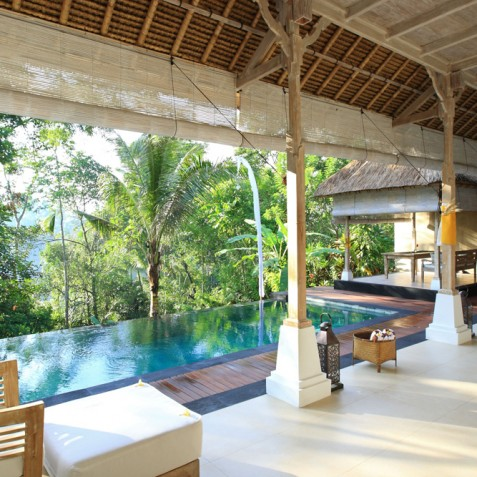 Villa Shamballa Residence, Ubud, Bali - Living Area and Pool