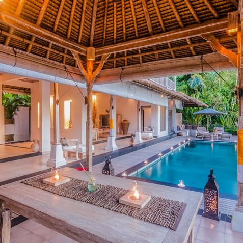 Villa Shamballa Residence, Ubud, Bali - Open Air Living Area