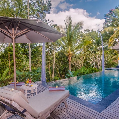 Villa Shamballa Residence, Ubud, Bali - Pool and Sun Deck