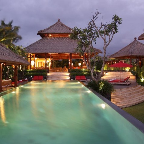 Villa Sound of the Sea Bali - Villa at Dusk - Canggu, Bali