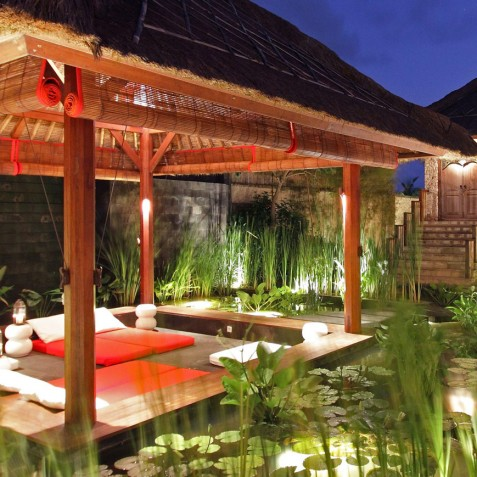 Villa Sound of the Sea Bali - Floating Bale at Night - Canggu, Bali