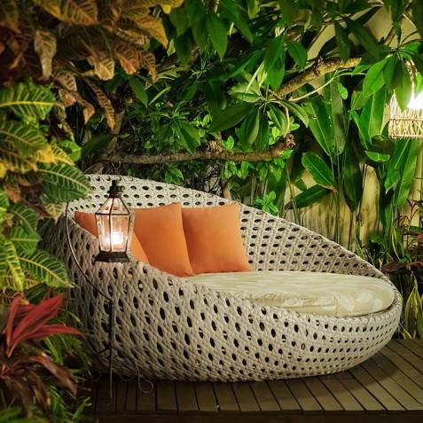 Villa Sun - 4S Villas - Lounger on Pool Deck - Seminyak, Bali