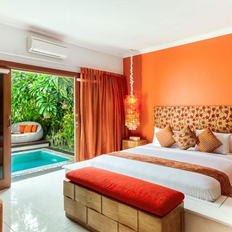 Villa Sun - 4S Villas - Poolside Bedroom - Seminyak, Bali