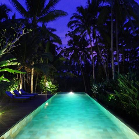 Villa Swarapadi, Ubud, Bali - Pool at Night