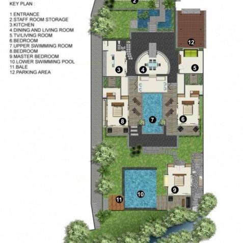 Villa Tukad Pangi Bali - Floor Plan - Canggu, Bali