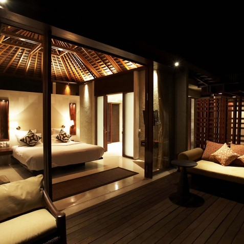 Villa Tukad Pangi - Master Bedroom at Night - Canggu, Bali