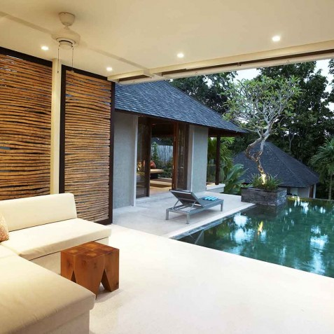 Villa Tukad Pangi - Open Air Living Room - Canggu, Bali