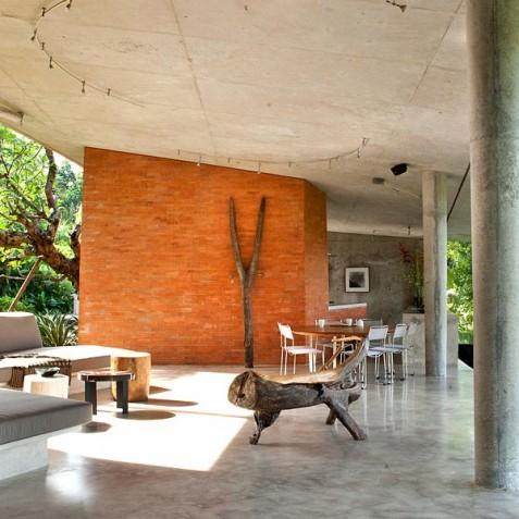 Villa Umah Tampih, Ubud, Bali - Living, Dining and Kitchen