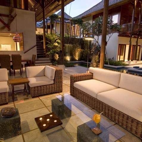 Villa Vajra, Ubud, Bali - Living and Dining Area