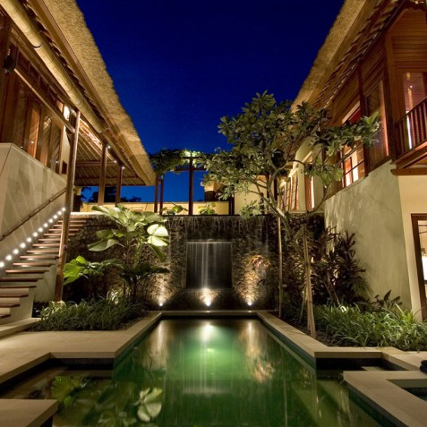 Villa Vajra, Ubud, Bali - Villa at Night