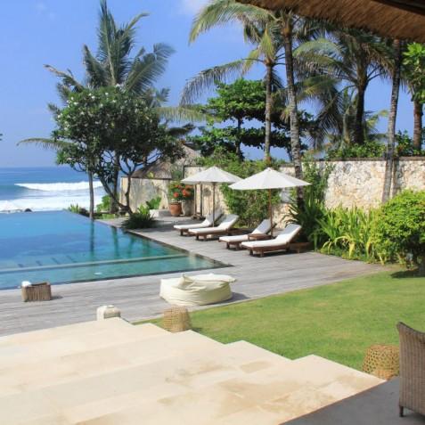 Villa Waringin - Morning View from Terrace - Pantai Lima, Canggu, Bali