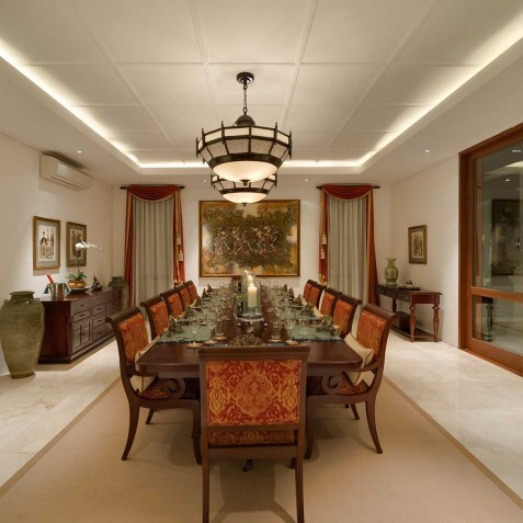 Villa Windu Asri - Indoor Dining Area - Seminyak, Bali