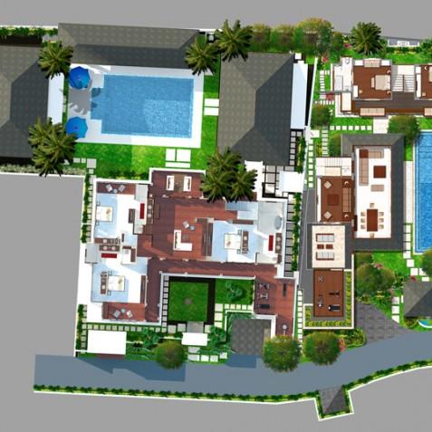 Windu Villas Bali - First Floor Plan - Seminyak, Bali