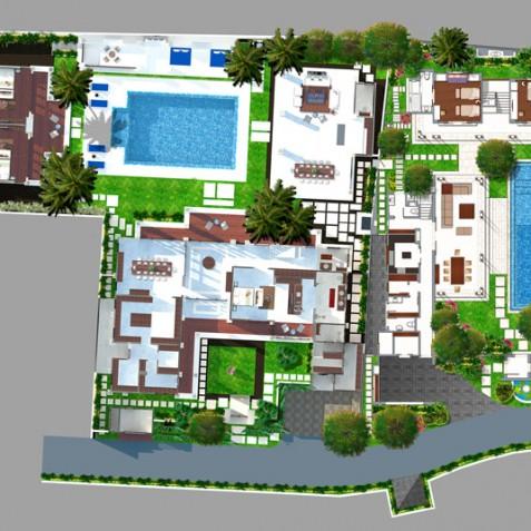 Windu Villas Bali - Ground Floor Plan - Seminyak, Bali