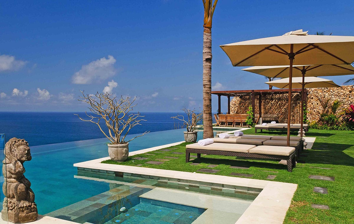 Bali Villa Ambar Pool Sundeck and Open Air Dining
