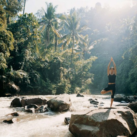 COMO Shambhala Estate, Bali - Yoga on Ayung River
