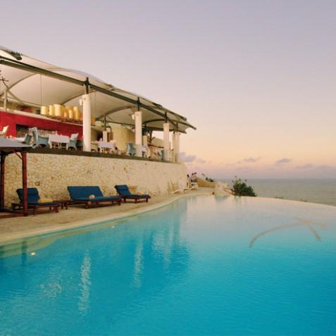 Karma Kandara Resort Facilities - Pool and Restaurant