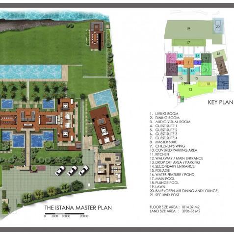 The Istana Bali - Floor Plan - Uluwatu, Bali