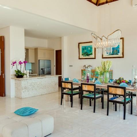 Tirta Nila Beach House, Candidasa, Bali - Indoor Dining Area