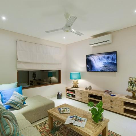Tirta Nila Beach House, Candidasa, Bali - Media Room