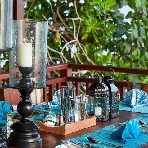 Tirta Nila Beach House, Candidasa, Bali - Alfresco Dining