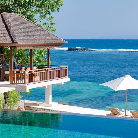 Tirta Nila Beach House, Candidasa, Bali - Outdoor Dining Bale