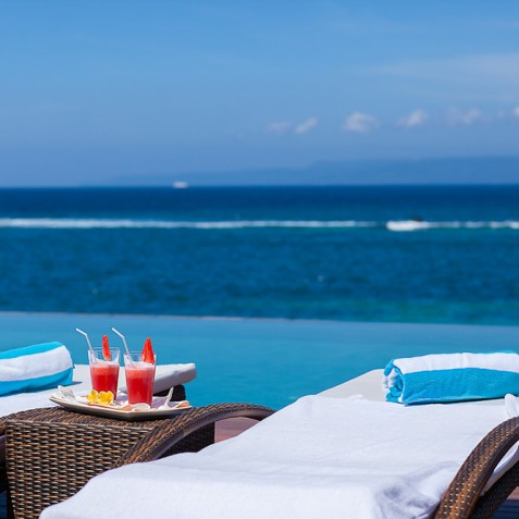 Tirta Nila Beach House, Candidasa, Bali - Pool Deck