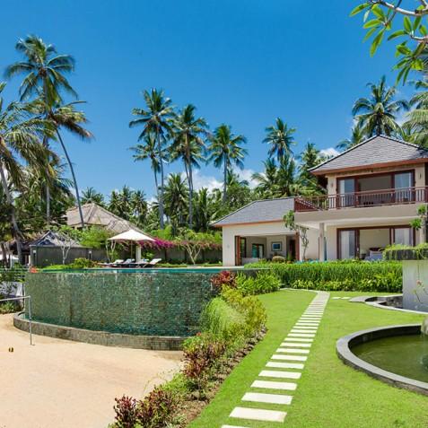 Tirta Nila Beach House, Candidasa, Bali - Villa from Beach