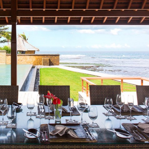 Villa Bayu Gita Beachfront Bali - Alfresco Dining